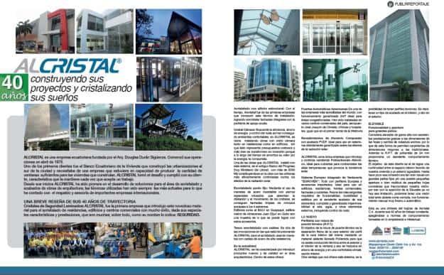 Publireportaje Revista Vistazo | ALCRISTAL C.A.
